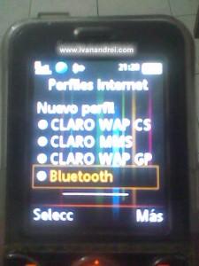 Conexion por defecto Bluetooth