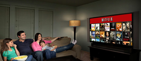 Viendo Netflix en la TV