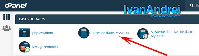 Cpanel - Crear base de datos MySQL
