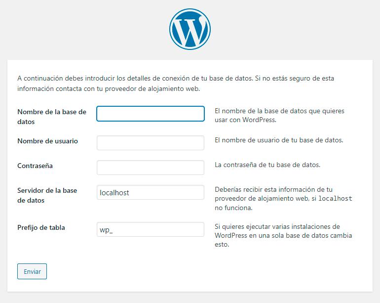 Como instalar WordPress en español