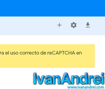 reCaptcha - Agregar sitio