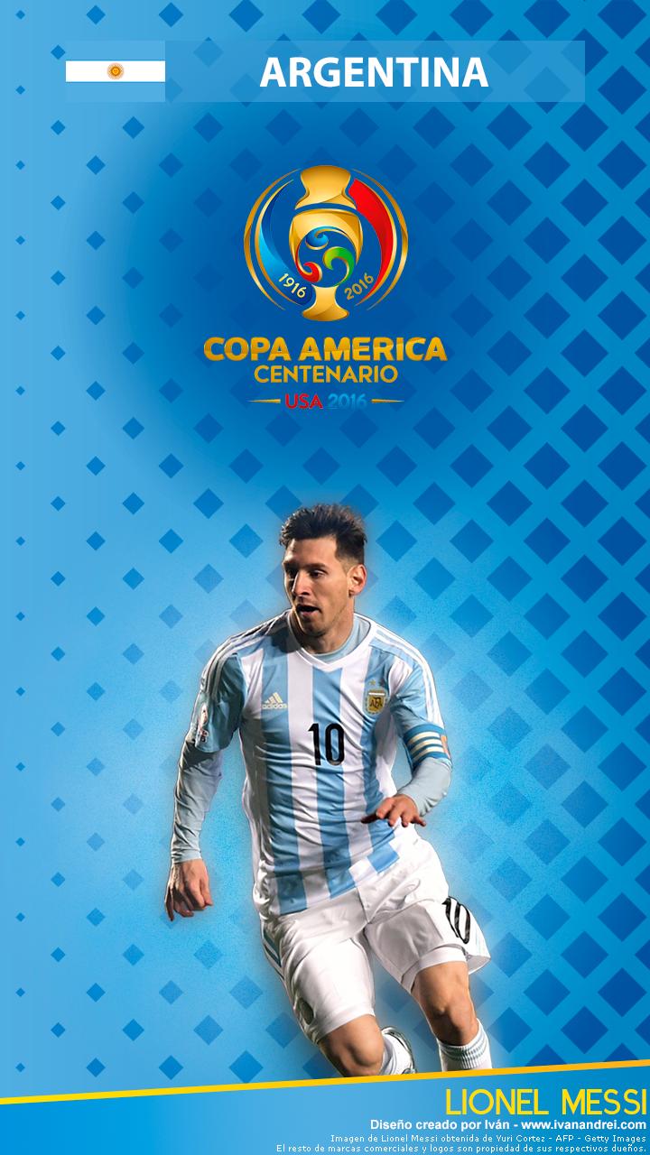 Wallpaper Copa América 2016 Argentina Lionel Messi