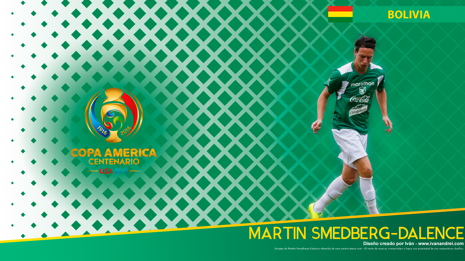 Wallpaper Copa América 2016 – Bolivia (Martin-Smedberg-Dalence)