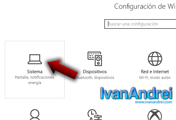 Windows 10 - Configuración - Sistema