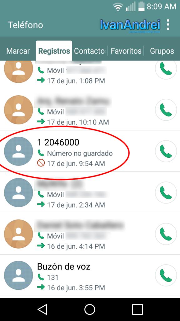 Como bloquear llamadas entrantes en Android