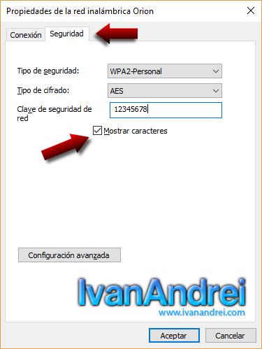 Saber contraseña Wi-Fi Windows 10 - Propiedades de la red inalámbrica