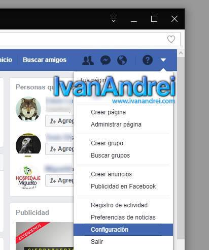 Facebook - Configuración