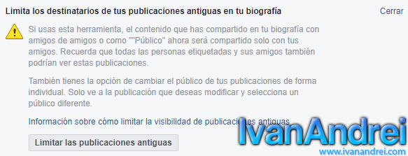 Facebook - Como ocultar todas tus publicaciones antiguas en Facebook