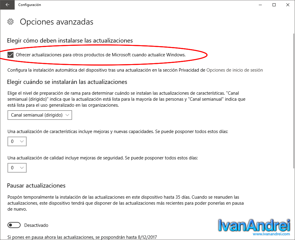 Windows 10 - Actualizar otros productos de Microsoft cuando se actualiza Windows 10