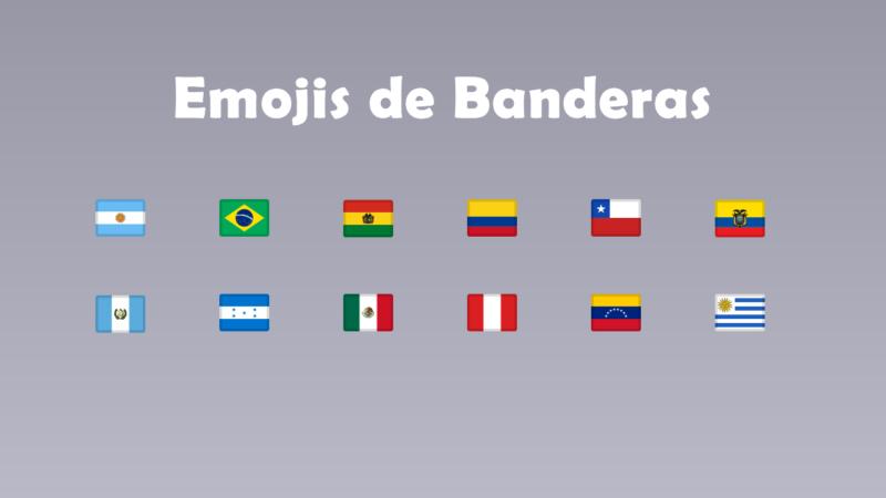 Emojis de banderas para copiar y pegar