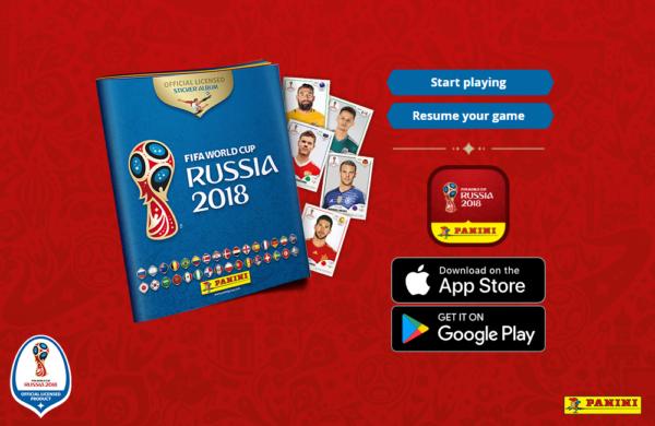 Códigos promocionales para el álbum virtual Panini de la FIFA – Rusia 2018