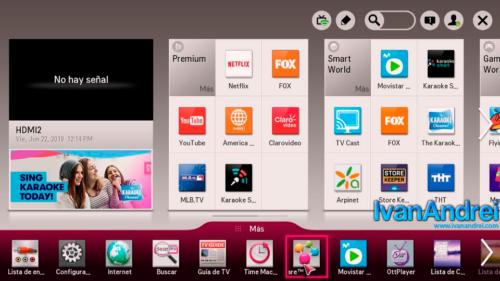 LG Smart TV - Menu