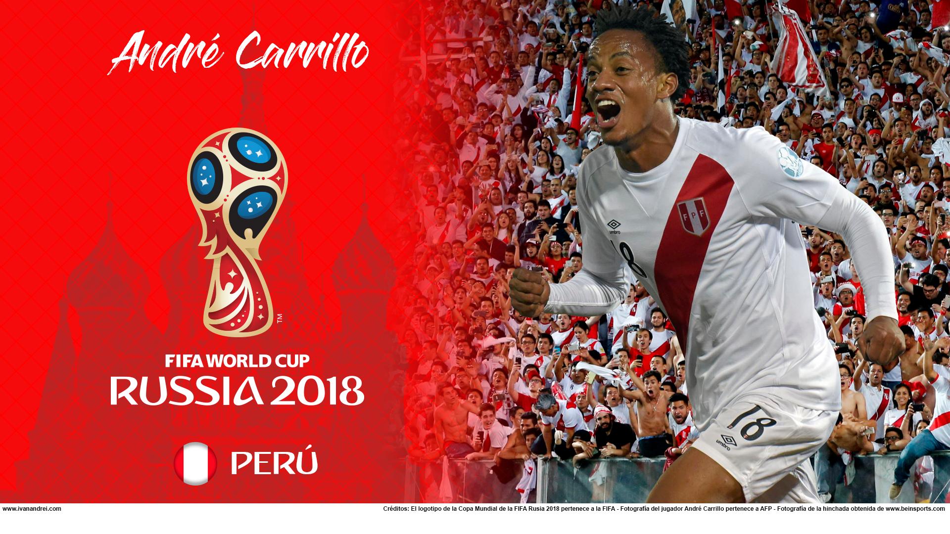Wallpaper de André Carrillo de Perú para la Copa Mundial de la FIFA - Rusia 2018 - Edición para PC (1920x1080)
