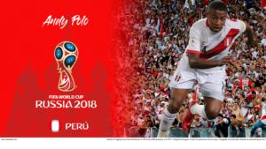 Wallpaper de Andy Polo de Perú para la Copa Mundial de la FIFA - Rusia 2018 - Edición para Laptop (1366x768)