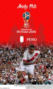 Wallpaper de Andy Polo de Perú para la Copa Mundial de la FIFA - Rusia 2018 - Edición para teléfonos con resolución 480x800