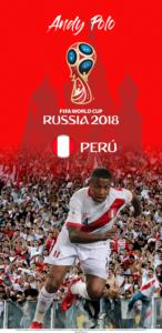 Wallpaper de Andy Polo de Perú para la Copa Mundial de la FIFA - Rusia 2018 - Edición para Samsung S9 (1440x2960)