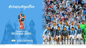 Wallpaper de la selección argentina de fútbol para la Copa Mundial de la FIFA - Rusia 2018 - Edición para Laptop (1366x768)