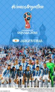 Wallpaper de la selección argentina de fútbol para la Copa Mundial de la FIFA - Rusia 2018 - Edición para teléfonos con resolución 480x800