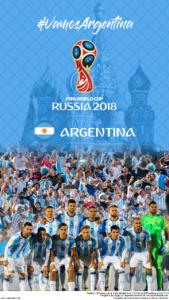 Wallpaper de la selección argentina de fútbol para la Copa Mundial de la FIFA - Rusia 2018 - Edición para teléfonos con resolución 720x1280