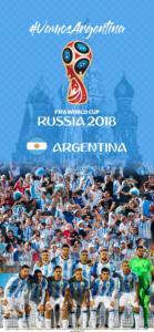 Wallpaper de la selección argentina de fútbol para la Copa Mundial de la FIFA - Rusia 2018 - Edición para iPhone X (1125x2436)