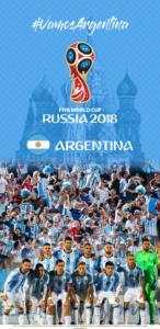 Wallpaper de la selección argentina de fútbol para la Copa Mundial de la FIFA - Rusia 2018 - Edición para Samsung S9 (1440x2960)