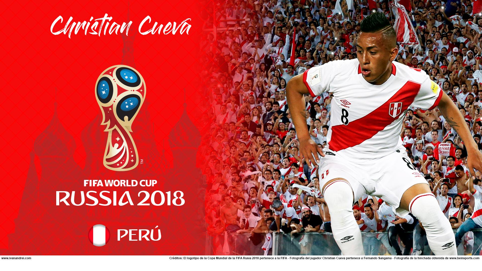 Wallpaper de Christian Cueva de Perú para la Copa Mundial de la FIFA - Rusia 2018 - Edición para PC (1920x1080)