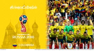 Wallpaper de la selección colombiana de fútbol para la Copa Mundial de la FIFA - Rusia 2018 - Edición para Laptop (1366x768)