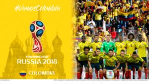 Wallpaper de la selección colombiana de fútbol para la Copa Mundial de la FIFA - Rusia 2018 - Edición para PC (1920x1080)