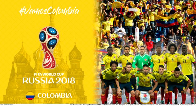 Wallpaper de la selección colombiana para PC y móviles (Rusia 2018)
