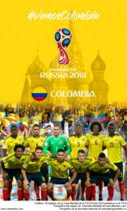 Wallpaper de la selección colombiana de fútbol para la Copa Mundial de la FIFA - Rusia 2018 - Edición para teléfonos con resolución 480x800
