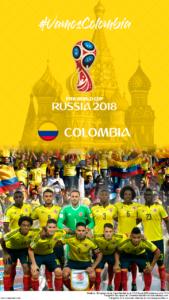 Wallpaper de la selección colombiana de fútbol para la Copa Mundial de la FIFA - Rusia 2018 - Edición para teléfonos con resolución 720x1280