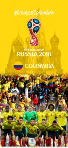 Wallpaper de la selección colombiana de fútbol para la Copa Mundial de la FIFA - Rusia 2018 - Edición para iPhone X (1125x2436)