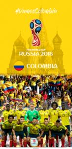Wallpaper de la selección colombiana de fútbol para la Copa Mundial de la FIFA - Rusia 2018 - Edición para Samsung S9 (1440x2960)