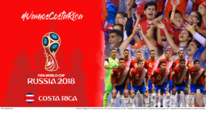 Wallpaper de la selección costarricence de fútbol para la Copa Mundial de la FIFA - Rusia 2018 - Edición para Laptop (1366x768)