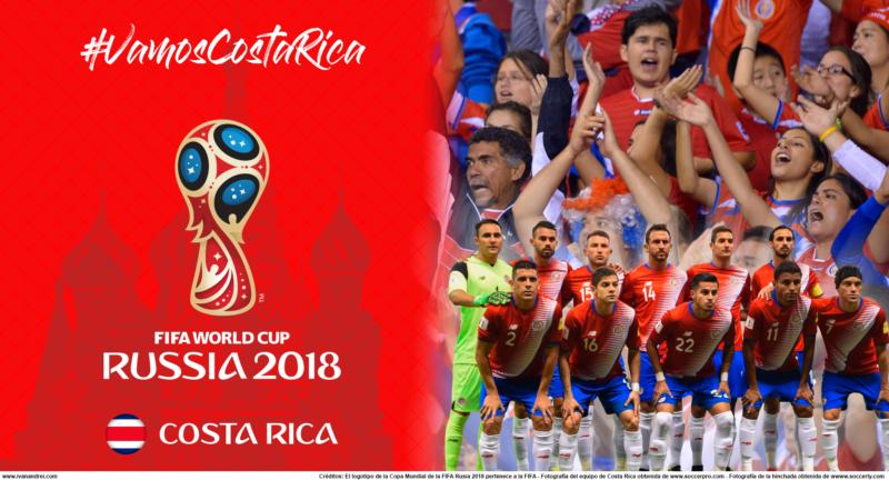 Wallpaper de la selección de Costa Rica para PC y móviles (Rusia 2018)