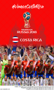 Wallpaper de la selección costarricense de fútbol para la Copa Mundial de la FIFA - Rusia 2018 - Edición para teléfonos con resolución 480x800