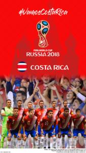 Wallpaper de la selección costarricence de fútbol para la Copa Mundial de la FIFA - Rusia 2018 - Edición para teléfonos con resolución 720x1280