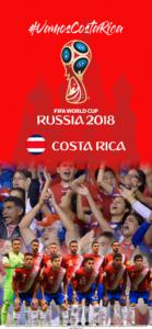 Wallpaper de la selección costarricence de fútbol para la Copa Mundial de la FIFA - Rusia 2018 - Edición para iPhone X (1125x2436)