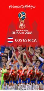 Wallpaper de la selección costarricence de fútbol para la Copa Mundial de la FIFA - Rusia 2018 - Edición para Samsung S9 (1440x2960)
