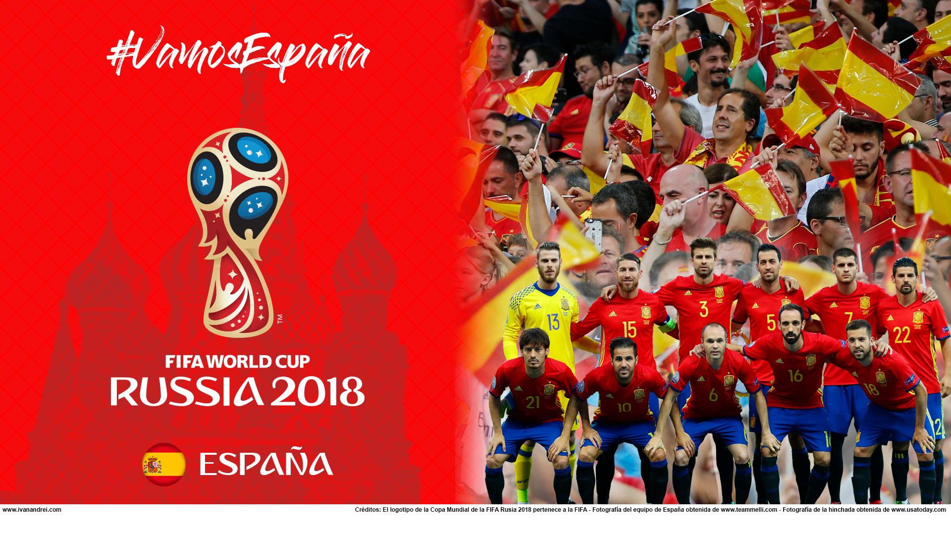 Wallpaper de la selección española de fútbol para la Copa Mundial de la FIFA - Rusia 2018 - Edición para PC (1920x1080)