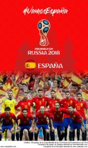 Wallpaper de la selección española de fútbol para la Copa Mundial de la FIFA - Rusia 2018 - Edición para teléfonos con resolución 480x800