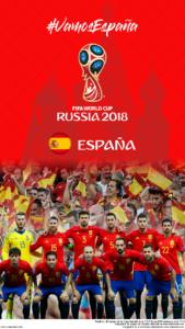 Wallpaper de la selección española de fútbol para la Copa Mundial de la FIFA - Rusia 2018 - Edición para teléfonos con resolución 720x1280