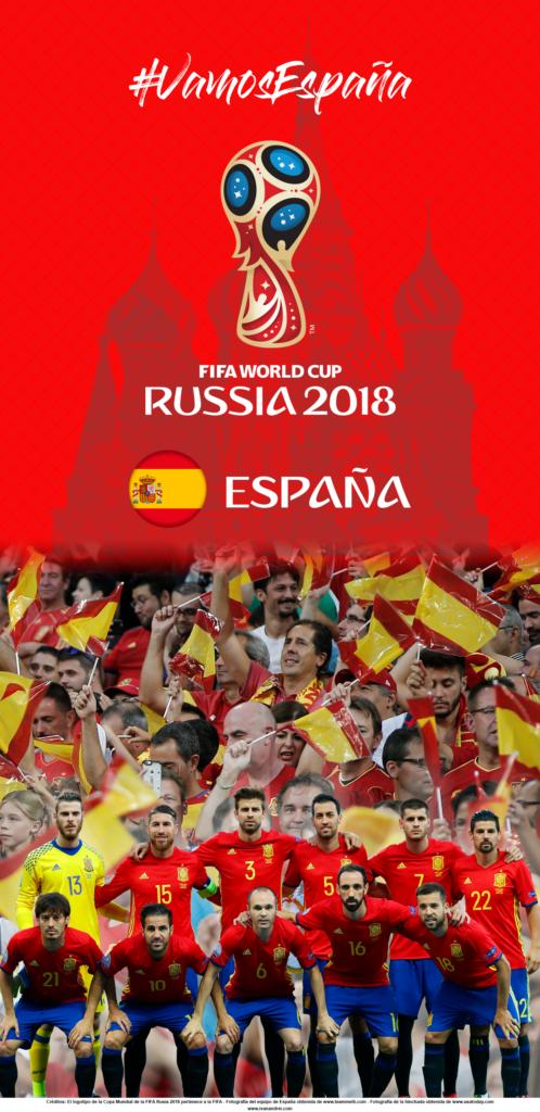 Wallpaper de la selección española de fútbol para la Copa Mundial de la FIFA - Rusia 2018 - Edición para Samsung S9 (1440x2960)