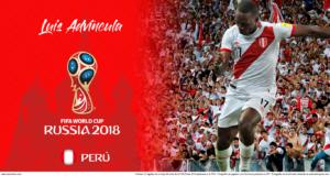 Wallpaper de Luis Advíncula de Perú en la Copa Mundial de Rusia 2018 - Edición para Laptop (1366x768)