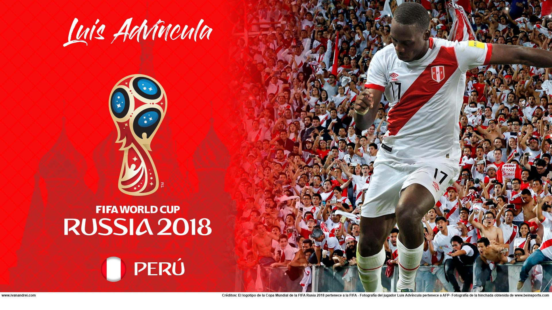 Wallpaper de Luis Advíncula de Perú para la Copa Mundial de la FIFA - Rusia 2018 - Edición para PC (1920x1080)