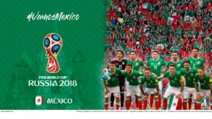 Wallpaper de la selección mexicana de fútbol para la Copa Mundial de la FIFA - Rusia 2018 - Edición para Laptop (1366x768)