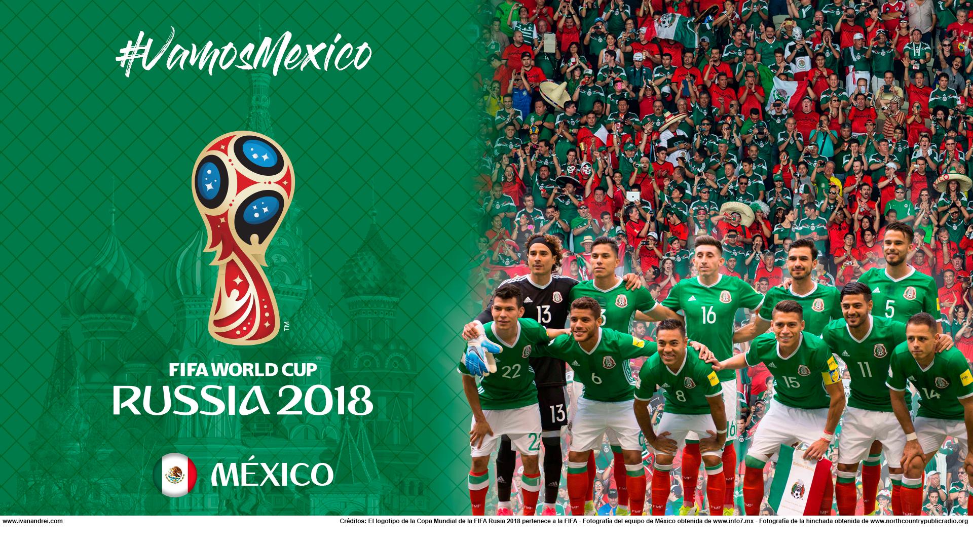 Wallpaper de la selección mexicana de fútbol para la Copa Mundial de la FIFA - Rusia 2018 - Edición para PC (1920x1080)