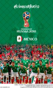 Wallpaper de la selección mexicana de fútbol para la Copa Mundial de la FIFA - Rusia 2018 - Edición para teléfonos con resolución 480x800