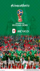 Wallpaper de la selección mexicana de fútbol para la Copa Mundial de la FIFA - Rusia 2018 - Edición para teléfonos con resolución 720x1280
