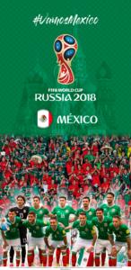 Wallpaper de la selección mexicana de fútbol para la Copa Mundial de la FIFA - Rusia 2018 - Edición para Samsung S9 (1440x2960)
